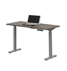 """Global Express Global Office To Go, Ionic Electric Height Adjustable Table, 46""""W x 23""""D, Dark Grey"""
