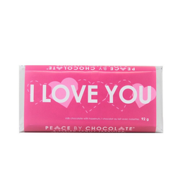 Peace by Chocolate Peace by Chocolate, I Love You Bar Milk Chocolate Hazelnut 92g