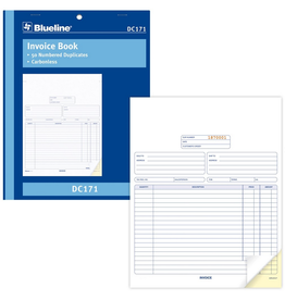 Blueline FORMS-NCR, INVOICE 8-1/2X11, 50 DUPLICATE ENGLISH