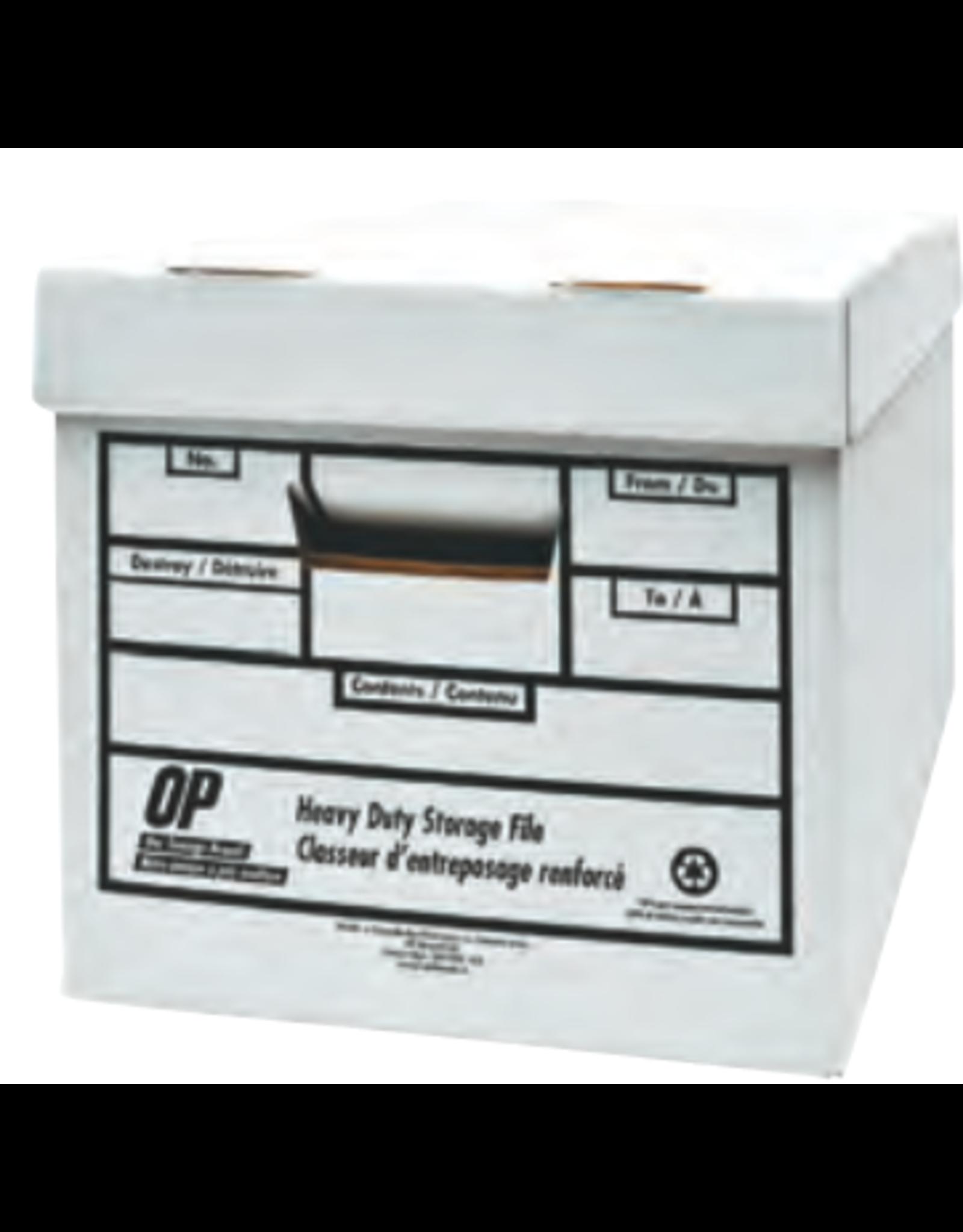 OP Brand FILE BOX-LETTER/LEGAL, HEAVY DUTY WHITE, OP BRAND, 4/PACK