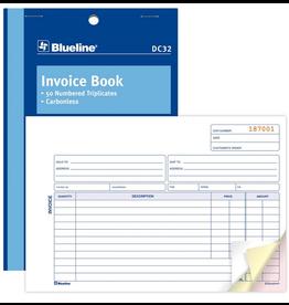 Blueline FORMS-NCR, INVOICE 5-3/8X8, 50 TRIPLICATE ENGLISH