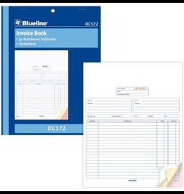 Blueline FORMS-NCR, INVOICE 8-1/2X11, 50 TRIPLICATE ENGLISH