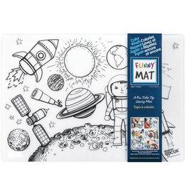 Funny Mat COLOURING MAT-REUSABLE, MEDIUM, SPACE (SPACE)