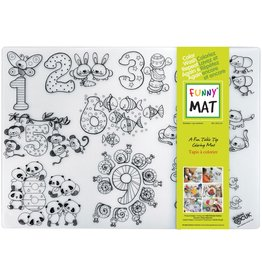 Funny Mat COLOURING MAT-REUSABLE, MEDIUM, NUMBERS (NUMBERS-M)