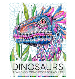 Papeterie Bleu Colouring Book for Adults, Dinosaurs