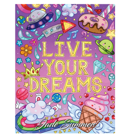 Jade Summer Colouring Book for Adults, Live Your Dreams
