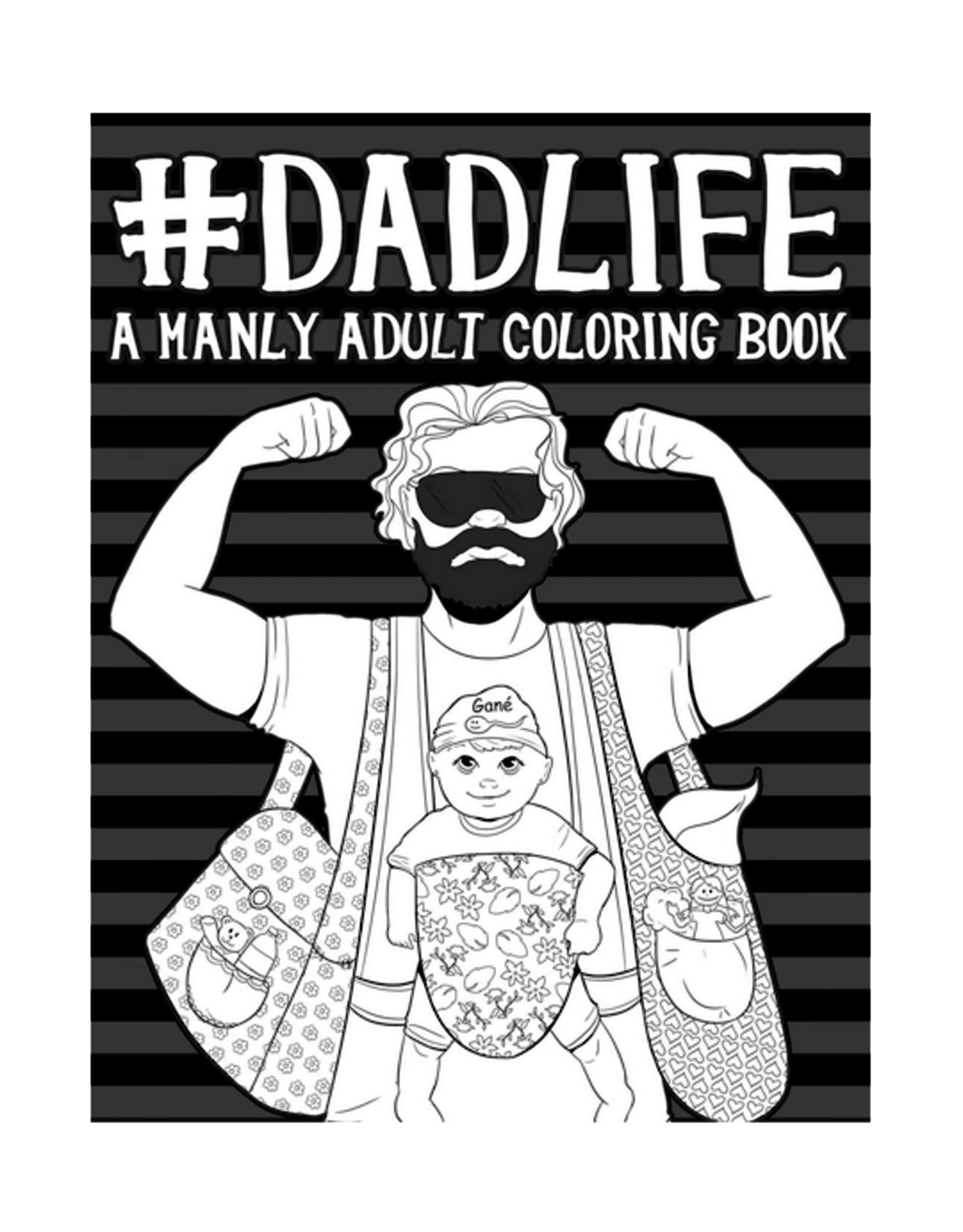 Papeterie Bleu Colouring Book for Adults, #DadLife