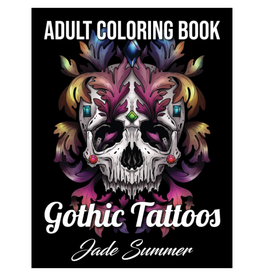 Jade Summer Colouring Book for Adults, Gothic Tattoos