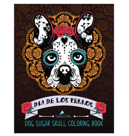 Papeterie Bleu Colouring Book for Adults, Dia de Los Perros (Dog Sugar Skulls)