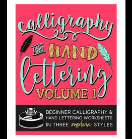 Papeterie Bleu Calligraphy & Hand Lettering: Volume 1 Worksheets