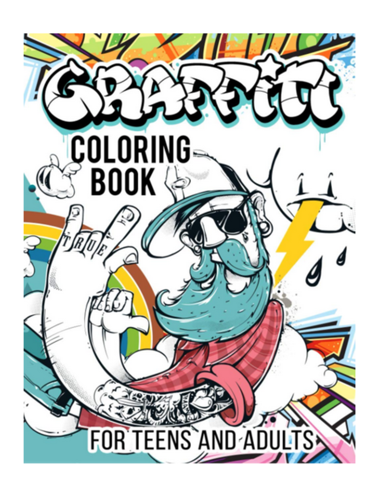 Lifestyle Graffiti Press Colouring Book for Teens & Adults, Graffiti