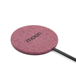 Moon Moon Wireless Charge Pad with AC Pink Fabric