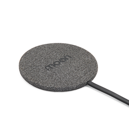 Moon Moon Wireless Charge Pad with AC Black Fabric