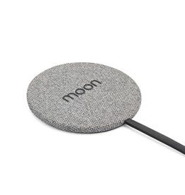 Moon Moon Wireless Charge Pad with AC Grey Fabric