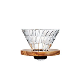 Hario Hario V60-02 Glass & Olive Wood Dripper