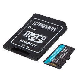 Kingston Technology SD Card - Kingston 64GB Canvas Go Plus MICROSDXC 170R A2 U3 V30 CRD+ADP