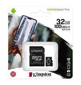 Kingston Technology SD Card - Kingston 32GB Canvas Select Plus MICROSDHC 100R A1 C10 CARD
