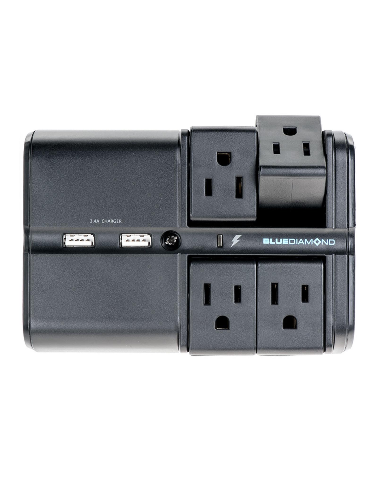 BlueDiamond BlueDiamond, Defend Flex + Charge, 4 Outlet Surge Protector + 2 USB Charging Ports