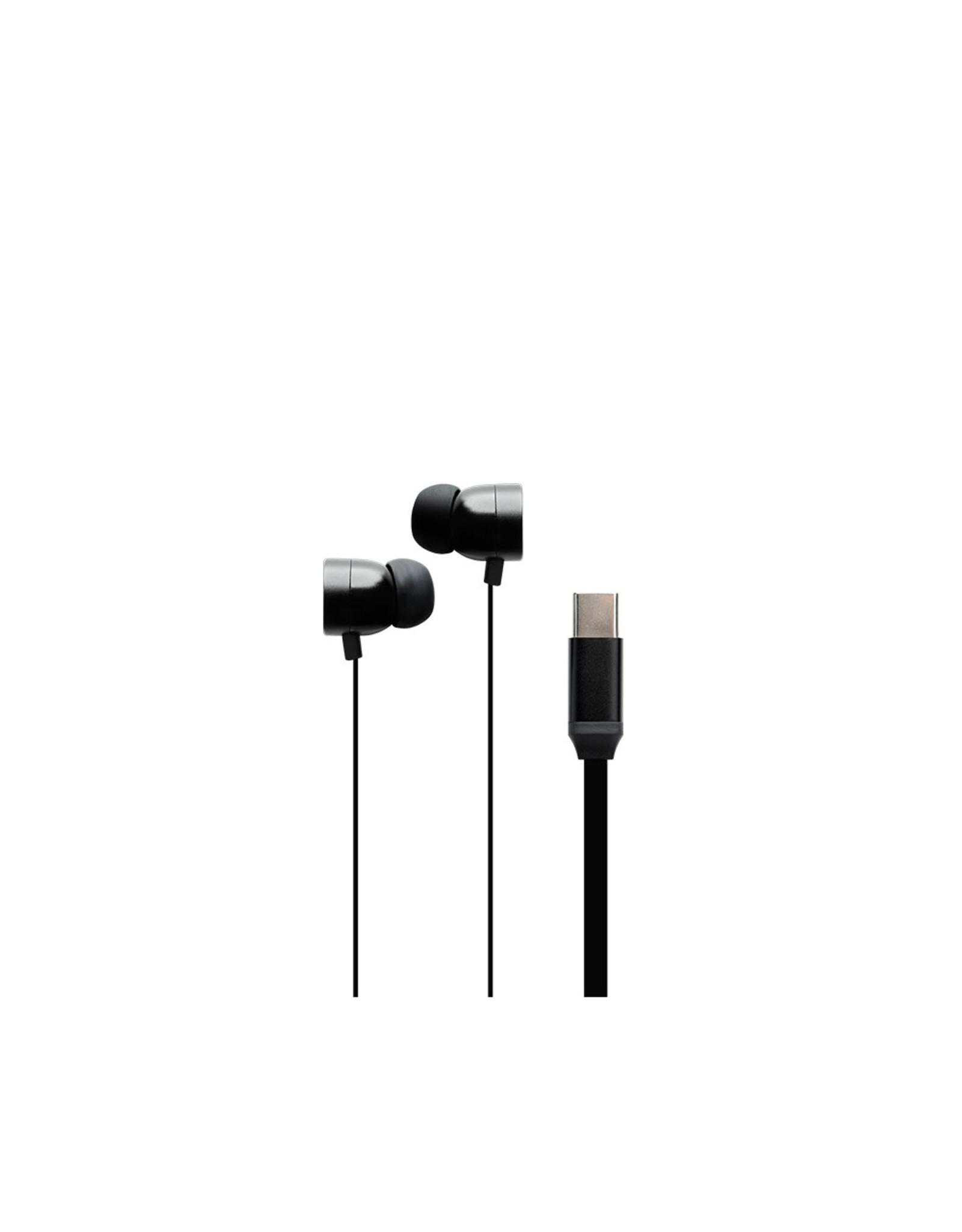BlueDiamond BlueDiamond, SmartTone+ Metal USB-C Earbuds, Black