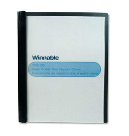Winnable Enterprises REPORT COVER-POLY CLEAR FRONT, BLACK