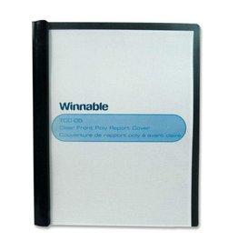 Winnable Enterprises REPORT COVER-POLY CLEAR FRONT, BLACK
