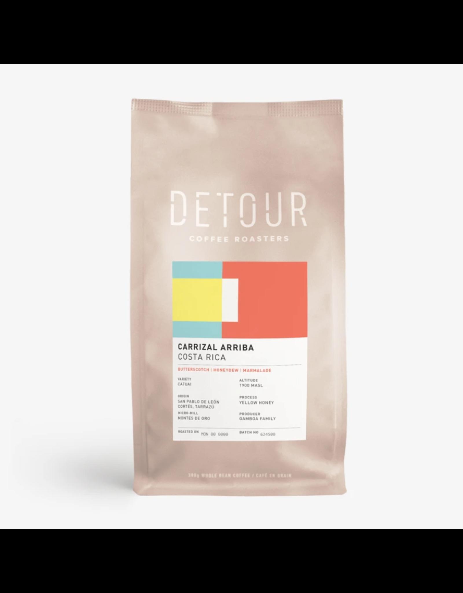 Detour Coffee Detour Coffee, Carrizal Arriba Costa Rica, 300g Beans