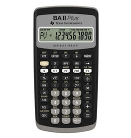 Texas Instruments Calculator - Texas Instruments TI-BAII Plus Financial