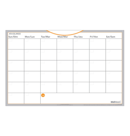 At-A-Glance PLANNER-WALL, MONTH 18X12 WALLMATES SELF-ADHESIVE UNDATED