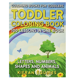 Kieran Squires Colouring Book for Kids, Letters, Numbers, Shapes & Animals