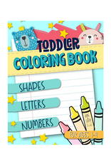 June & Lucy Kids Colouring Book for Kids, Shapes, Letters & Numbers