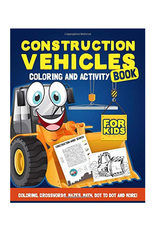Happy Harper Colouring Book for Kids, Construction Vehicles