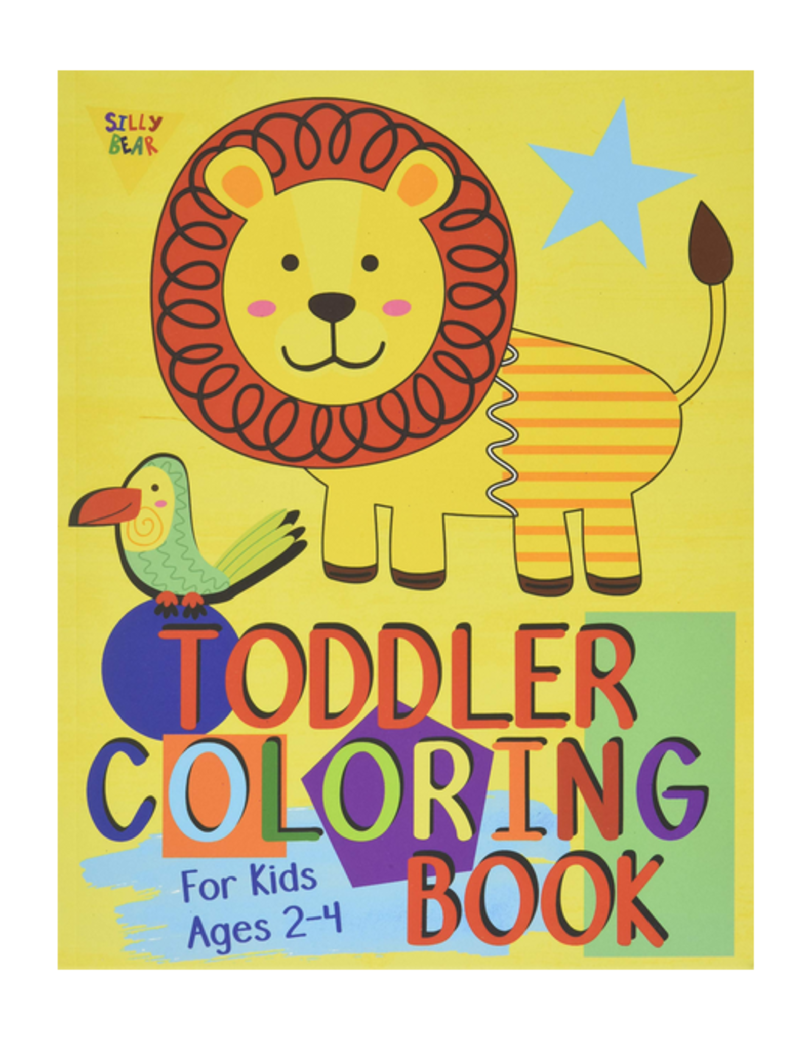 Silly Bear Colouring Book for Kids, Shapes, Letters, Numbers & Animals
