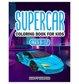 Happy Harper Colouring Book for Kids, Supercar