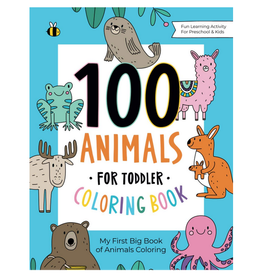 Go Inspire Publishing Colouring Book for Kids, 100 Animals