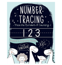 June & Lucy Kids Activity Book for Kids, Trace the Numbers Dinosaurs