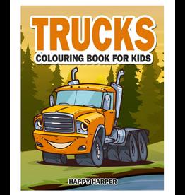 Happy Harper Colouring Book for Kids, Trucks
