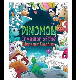 Julia Rivers Colouring Book, Dinomon - Invasion of the Dinosaur Doodles