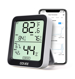 Govee Hygrometer Thermometer, Govee BT with App Alerts, LCD Display