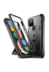 Case - Poetic Revolution Google Pixel 4a 5G Full-Body Rugged Shock Proof, Built-in Screen Protector, Black