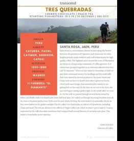 Transcend Coffee Transcend Coffee, Tres Quebradas - Peru - 340g (3/4 lb)