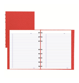 Blueline NOTEBOOK-NOTEPRO, 192 PAGE TWIN-WIRE 9.25X7.25 RED