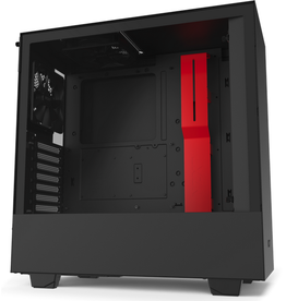 NZXT NZXT - H510 - Black with Red - CS CA-H510B-BR MidTower