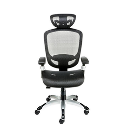 Staples FlexFit Hyken Mesh Back Fabric Task Chair - Black