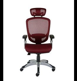 Staples FlexFit Hyken Mesh Back Fabric Task Chair - Red