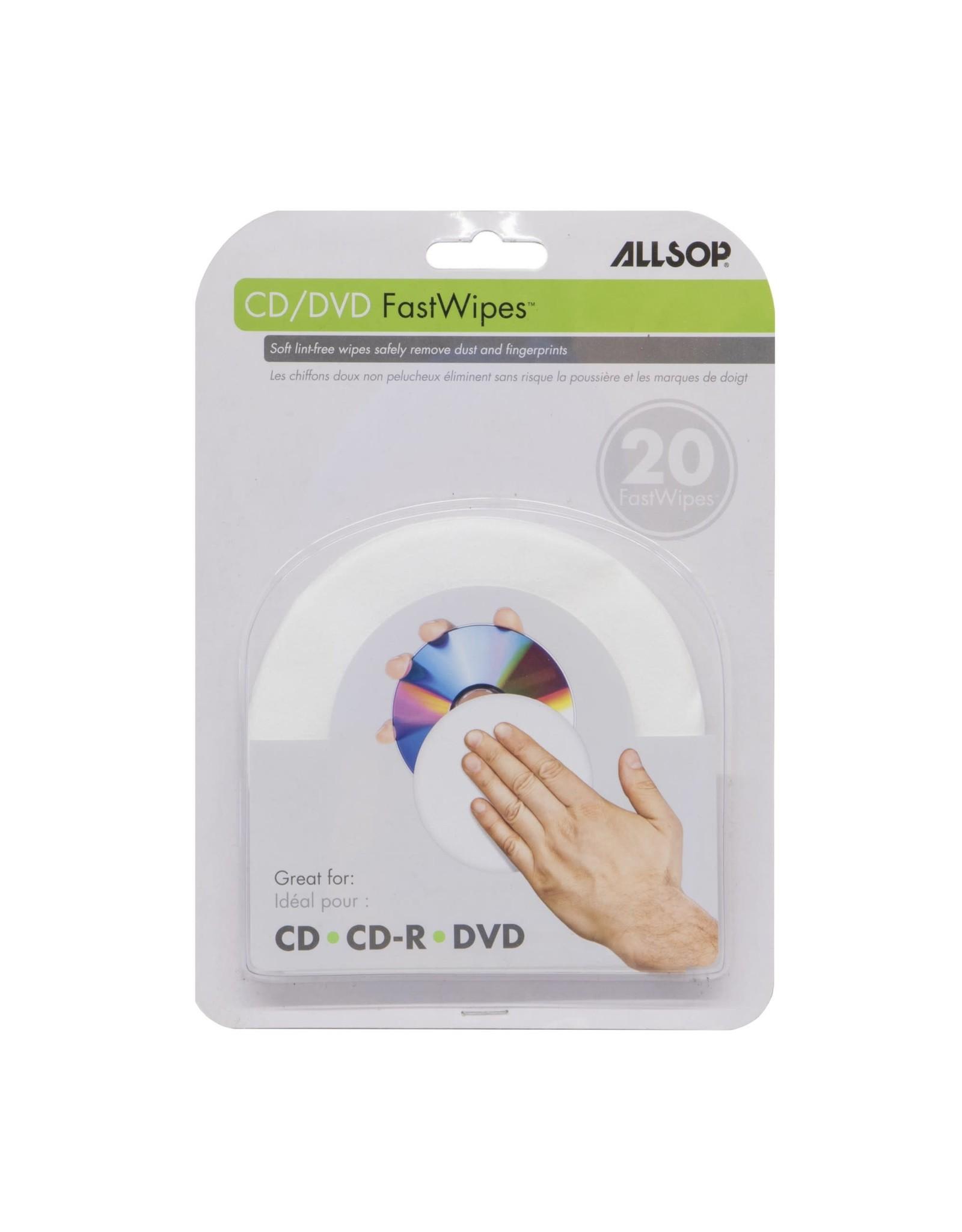 Allsop Allsop CD and DVD Fast Wipes