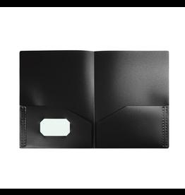 Winnable Enterprises Portfolio, 2 Pocket Poly Letter, Black