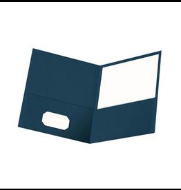 Oxford Oxford 2 Pocket Portfolio Letter Size, Dark Blue