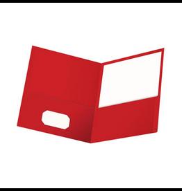 Oxford Oxford 2 Pocket Portfolio Letter Size, Red