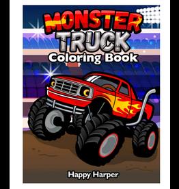 Happy Harper Colouring Book For Kids Ages 4-8, Monster Trucks