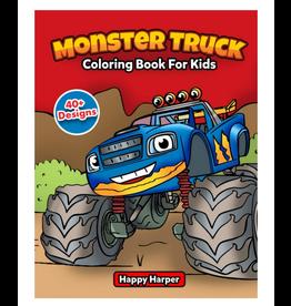 Happy Harper Colouring Book For Kids, Monster Trucks